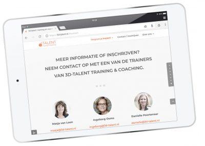 Website 3d-talent.nl